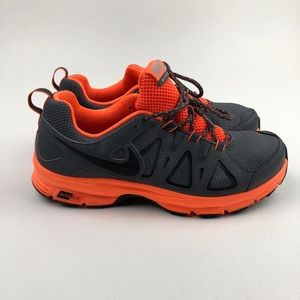 Nike Air Alford 10 Trail Hiking Runner Gray Orange